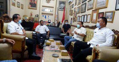 Berbagi Teknis Bonus Atlet , Dispora Kota Tangerang Datangi KONI Kota Serang